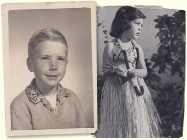 Childhood photos of Lynn and Thayne